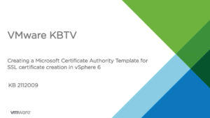How To Create A Microsoft Certificate Authority Template For Ssl  Certificate Creation In Vsphere 6 inside Certificate Authority Templates