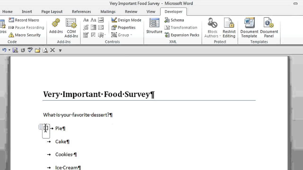 How To Create A Survey With Radio Buttons In Microsoft Word : Office  Software Help Throughout Button Template For Word