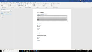 How To Create A Table Of Contents In Microsoft Word With Regard To Microsoft Word Table Of Contents Template