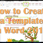 How To Create A Template In Word 2013 inside How To Create A Template In Word 2013