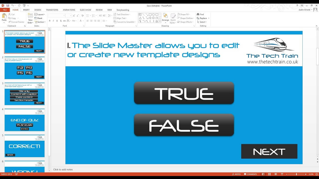 How To Create An Interactive Quiz In Powerpoint Inside Powerpoint Quiz Template Free Download