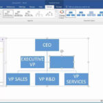 How To Create An Organization Chart In Word 2016 Pertaining To Word Org Chart Template