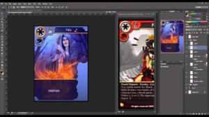 How To Create Trading Cards In Photoshop intended for Card Game Template Maker