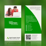 How To Create Two Fold Brochure | Photoshop Tutorial Within Two Fold Brochure Template Psd