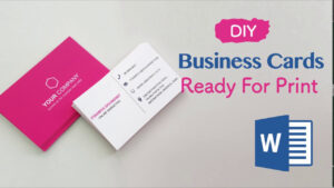 How To Create Your Business Cards In Word – Professional And Print-Ready In  4 Easy Steps! within Business Cards For Teachers Templates Free