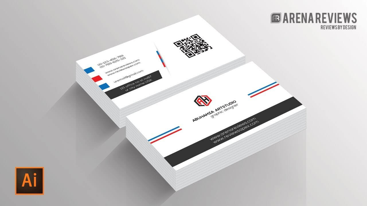 How To Design Business Card Template Illustrator Cc Tutorial With Adobe Illustrator Business Card Template