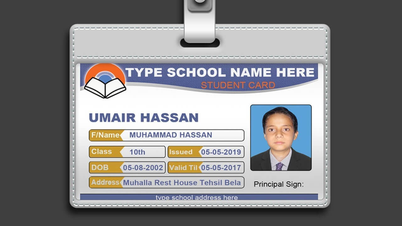 How To Design Id Card In Photoshop + Psd Free Download With College Id Card Template Psd