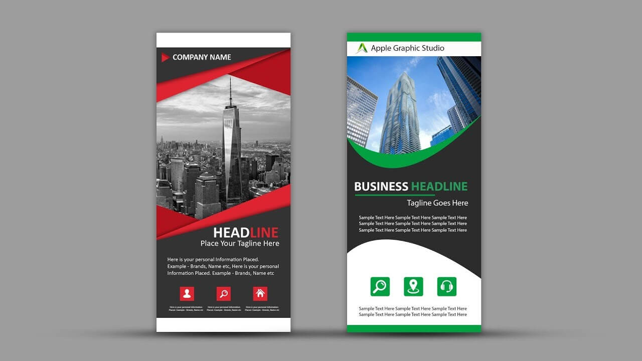 How To Design Roll Up Banner For Business | Photoshop Tutorial Throughout Retractable Banner Design Templates