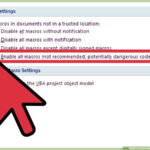 How To Enable Macros In Microsoft Word: 7 Steps (With Pictures) Pertaining To Word Macro Enabled Template