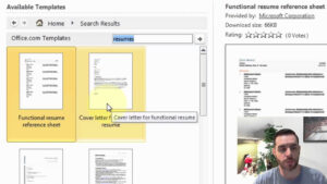 How To Find A Resume Template In Microsoft Word within How To Find A Resume Template On Word