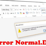 """How To Fix Word Error Normal.dot """"word Cannot Save Or Create This File"""" Intended For Word Cannot Open This Document Template"""
