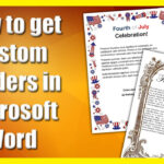 How To Get A Custom Border In Microsoft Word With Scroll Paper Template Word