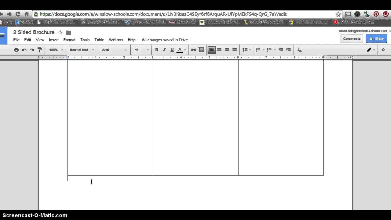 How To Make 2 Sided Brochure With Google Docs Intended For Google Docs Brochure Template