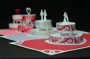 How To Make A Birthday Cake Or Wedding Cake Pop-Up Card in Wedding Pop Up Card Template Free