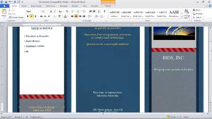 How To Make A Brochure In Microsoft Word intended for Free Tri Fold Brochure Templates Microsoft Word