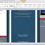 How To Make A Brochure In Microsoft Word Throughout 4 Fold Brochure Template Word