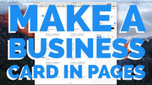 How To Make A Business Card In Pages For Mac (2016) in Business Card Template Pages Mac