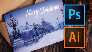 How To Make A Christmas Card With Photoshop Or Illustrator inside Adobe Illustrator Christmas Card Template