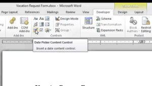 How To Make A Fill-In-The-Blank Form With Microsoft Word 2010 : Microsoft  Word Doc Tips inside Blank Check Templates For Microsoft Word