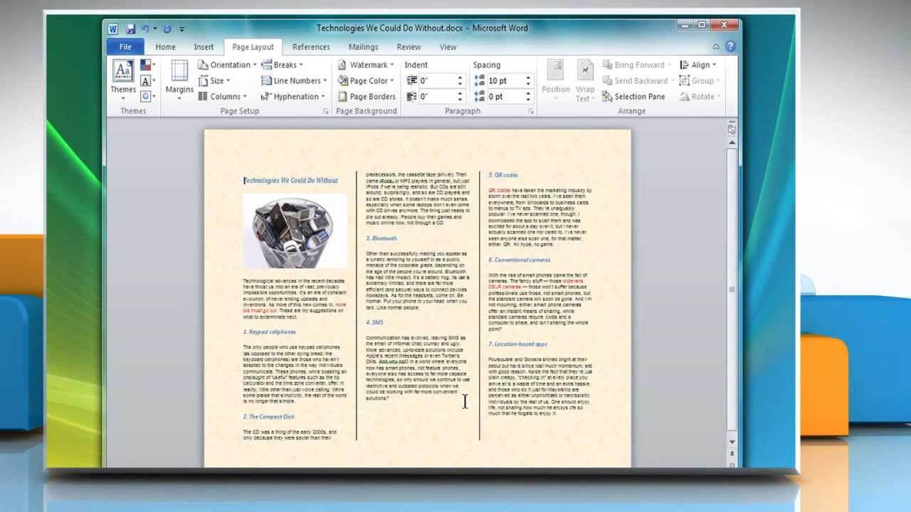 How To Make A Tri Fold Brochure In Microsoft® Word 2007 Within Brochure Template On Microsoft Word