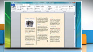 How To Make A Tri-Fold Brochure In Microsoft® Word 2007 within Brochure Templates For Word 2007