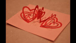 How To Make A Valentine's Day Pop Up Card: Spiral Heart regarding Pop Out Heart Card Template