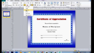 How To Make Certificate Using Microsoft Publisher pertaining to Award Certificate Templates Word 2007