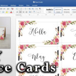 Tent Name Card Template Word