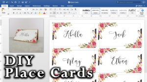 How To Make Diy Place Cards With Mail Merge In Ms Word And Adobe Illustrator with Wedding Place Card Template Free Word