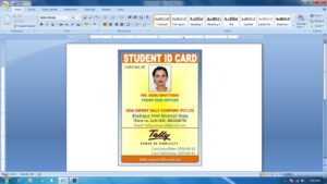 How To Make Id Card Design In Ms Word 2018 (Advance Id Card Design) in Id Card Template For Microsoft Word