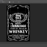 How To Make Jack Daniels Logo In Photoshop Quick & Easy Intended For Blank Jack Daniels Label Template