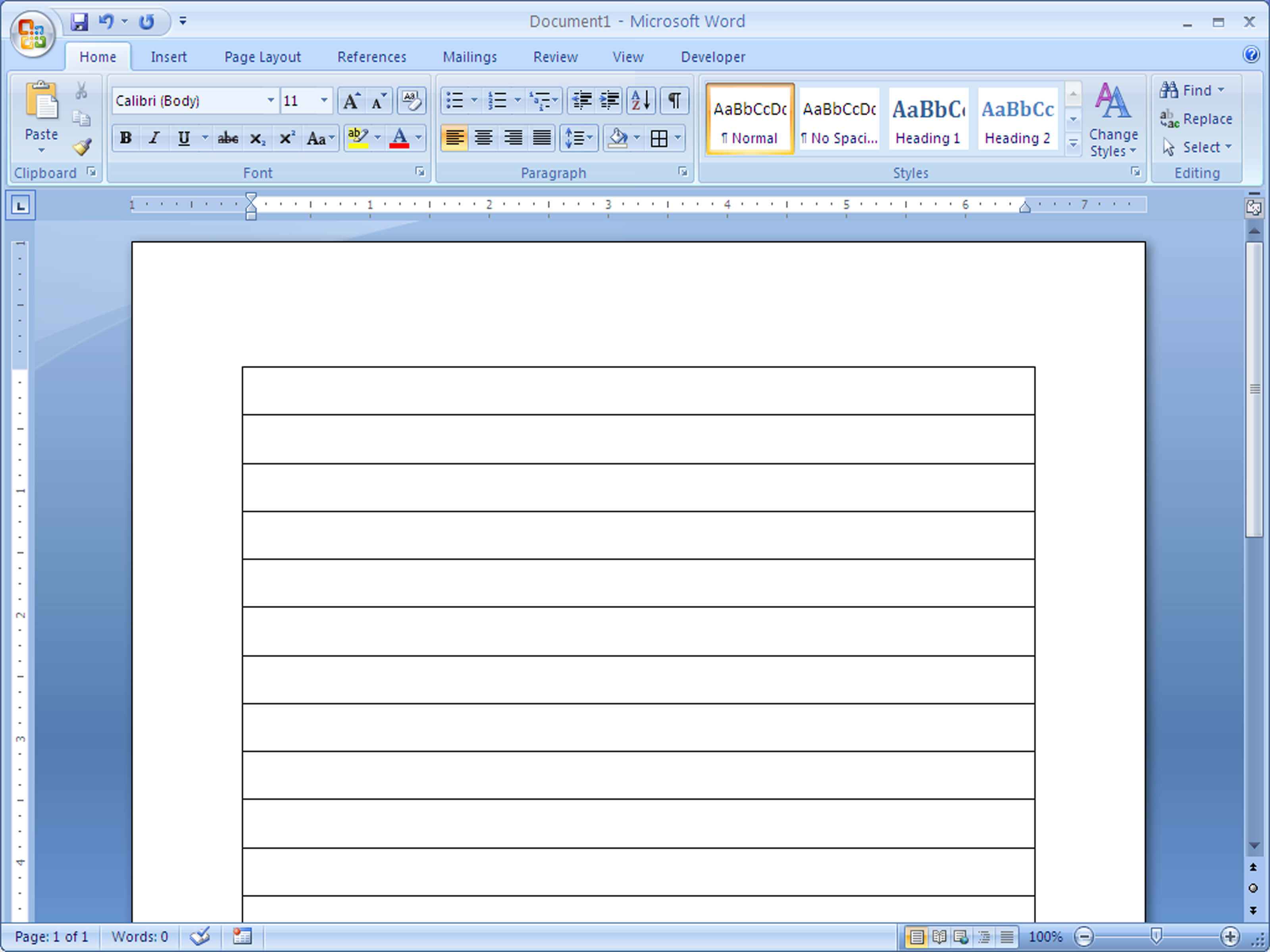 How To Make Lined Paper In Word 2007: 4 Steps (With Pictures) Intended For Microsoft Word Lined Paper Template