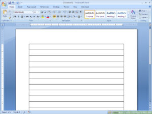 How To Make Lined Paper In Word 2007: 4 Steps (With Pictures) throughout Ruled Paper Word Template