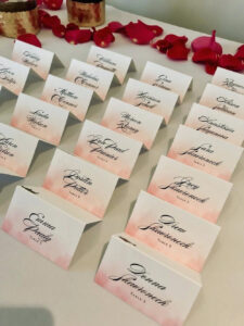 How To Make Place Cards inside Michaels Place Card Template