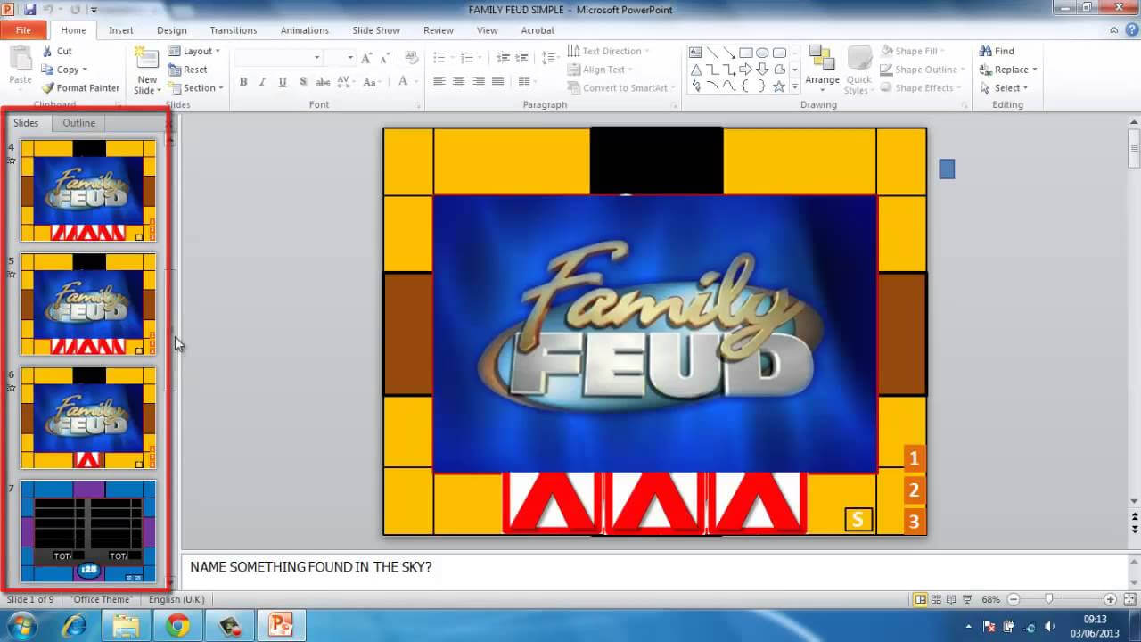 How To Make Powerpoint Games Family Feud Intended For Family Feud Powerpoint Template Free Download