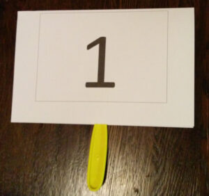 How To Make Quarter Auction Paddles with Auction Bid Cards Template