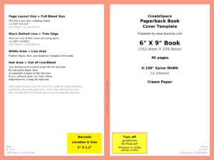 How To Make Your Book's Print Cover Using Microsoft with How To Create A Book Template In Word
