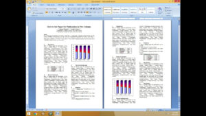 How To Set Two Column Paper For Publication intended for Scientific Paper Template Word 2010