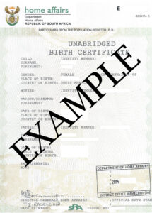 How To Travel With Children Into And Out Of South Africa with regard to South African Birth Certificate Template