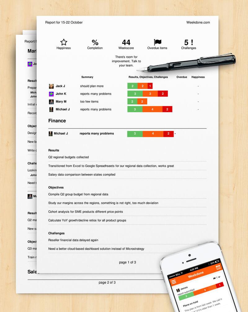How To Write A Progress Report (Sample Template) – Weekdone Regarding Company Progress Report Template