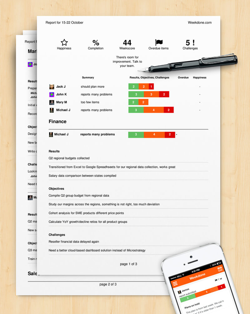 How To Write A Progress Report (Sample Template) – Weekdone With Regard To Monthly Status Report Template