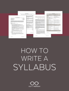 How To Write A Syllabus | Cult Of Pedagogy inside Blank Syllabus Template