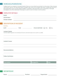 How To Write An Effective Incident Report [Incident Report regarding Incident Report Register Template
