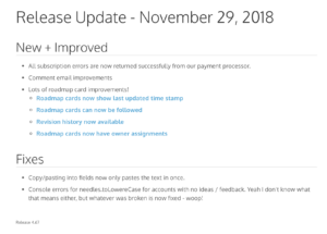 How To Write Great Release Notes   Prodpad in Software Release Notes Template Word