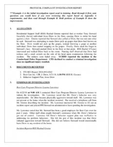 Human Resources Investigation Report Template in Workplace Investigation Report Template