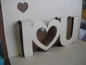 """I <3 U"""" Pop-Up Card–And The Proper Print Out!   Twenty-One for I Love You Pop Up Card Template"""