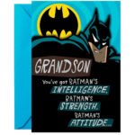 I Am Batman Birthday Card Grandson And Catwoman Template With Regard To Batman Birthday Card Template