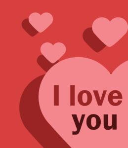 I Love You Card (Quarter-Fold) within Quarter Fold Card Template