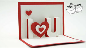 I Love You – Valentine`s Day Pop Up Cards – Paper Craft Tutorial – Diy with I Love You Pop Up Card Template