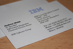 Ibm Business Card | Visitkort Design in Ibm Business Card Template